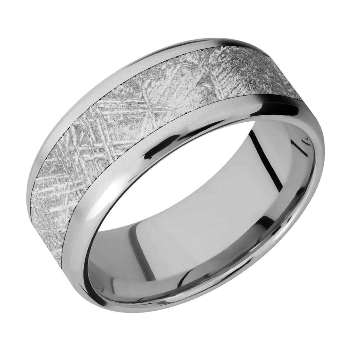 Lashbrook 9B16(NS)/METEORITE Titanium Wedding Ring or Band