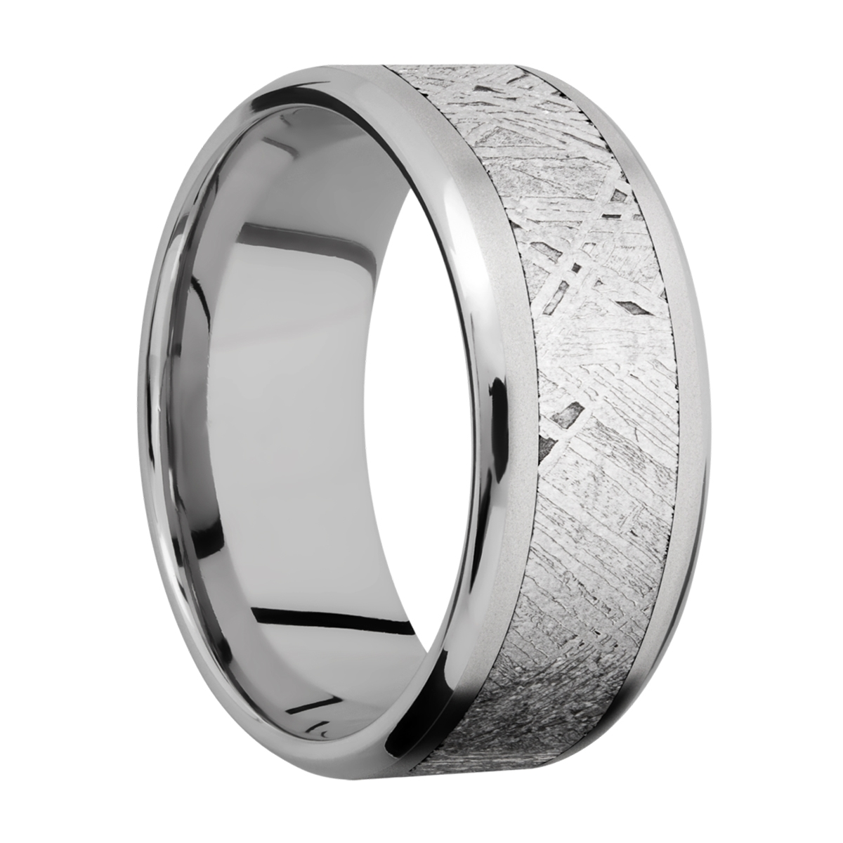Lashbrook 9B16(NS)/METEORITE Titanium Wedding Ring or Band Alternative View 1