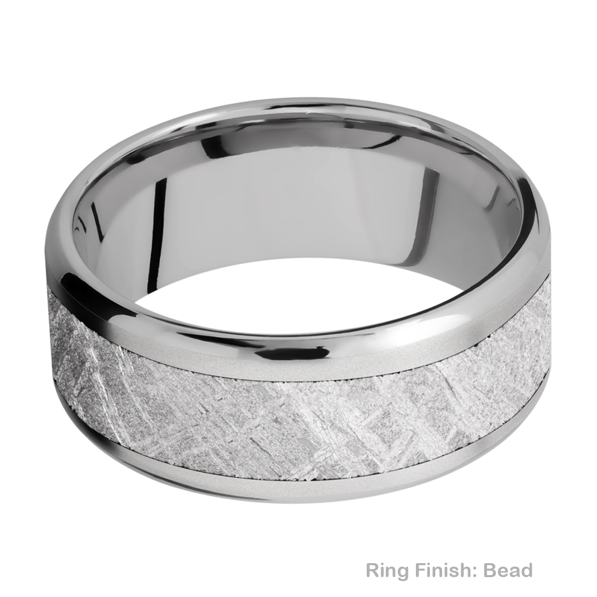 Lashbrook 9B16(NS)/METEORITE Titanium Wedding Ring or Band Alternative View 2