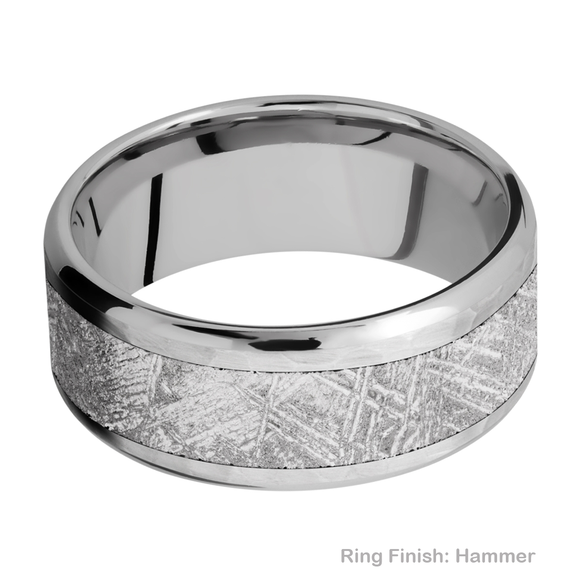 Lashbrook 9B16(NS)/METEORITE Titanium Wedding Ring or Band Alternative View 7