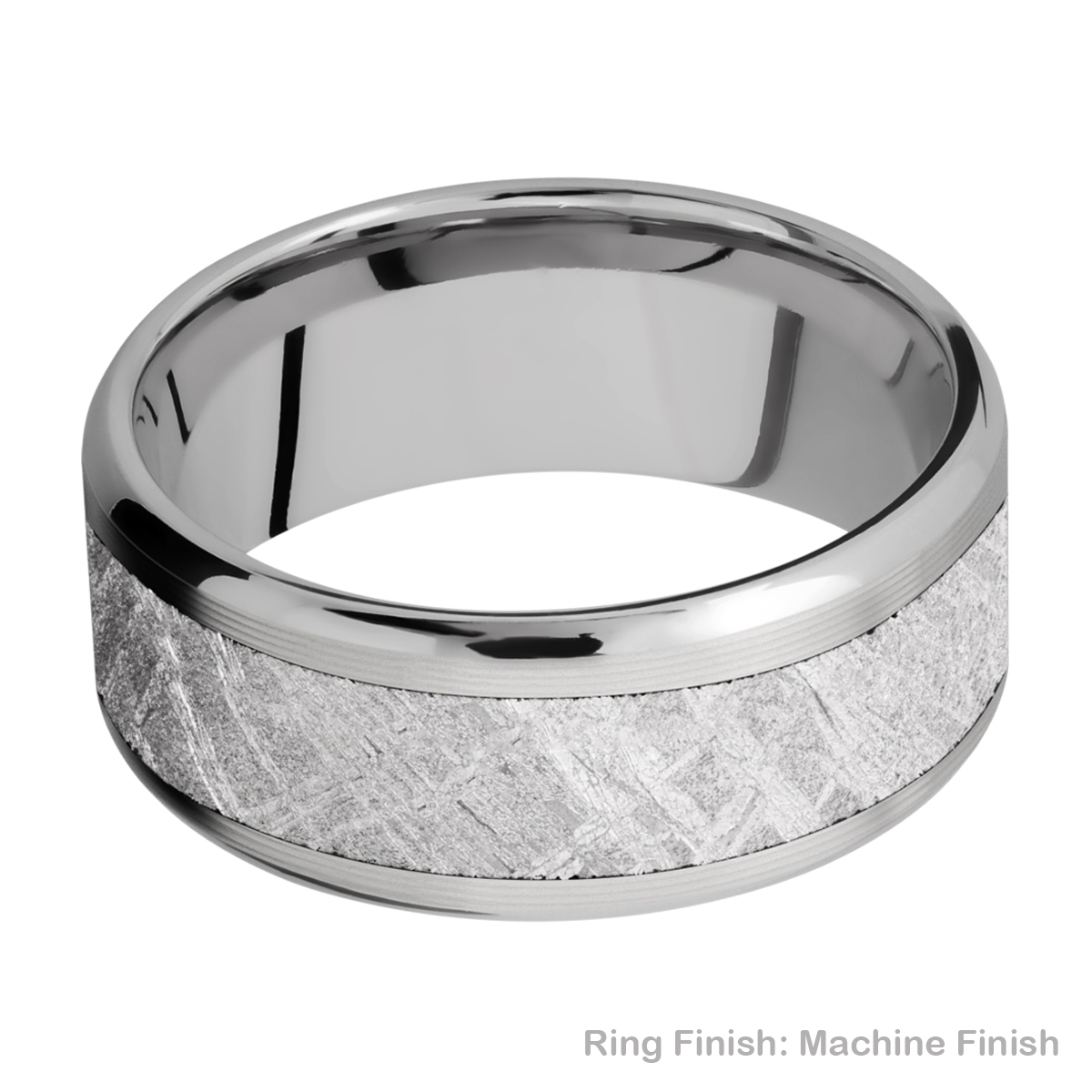 Lashbrook 9B16(NS)/METEORITE Titanium Wedding Ring or Band Alternative View 8
