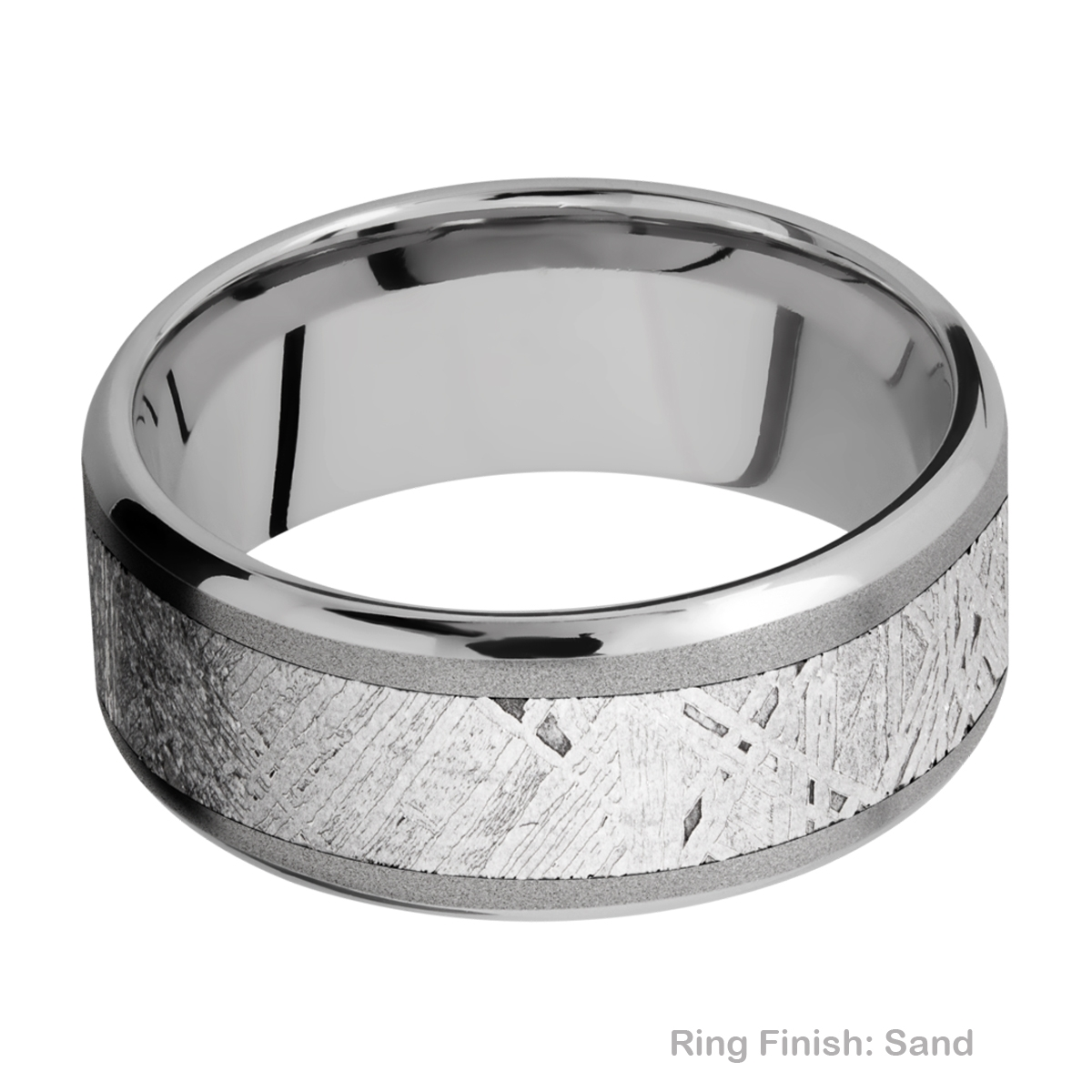 Lashbrook 9B16(NS)/METEORITE Titanium Wedding Ring or Band Alternative View 3