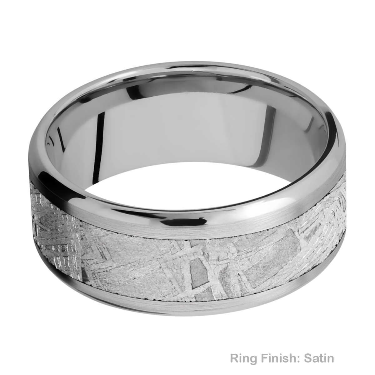 Lashbrook 9B16(NS)/METEORITE Titanium Wedding Ring or Band Alternative View 4