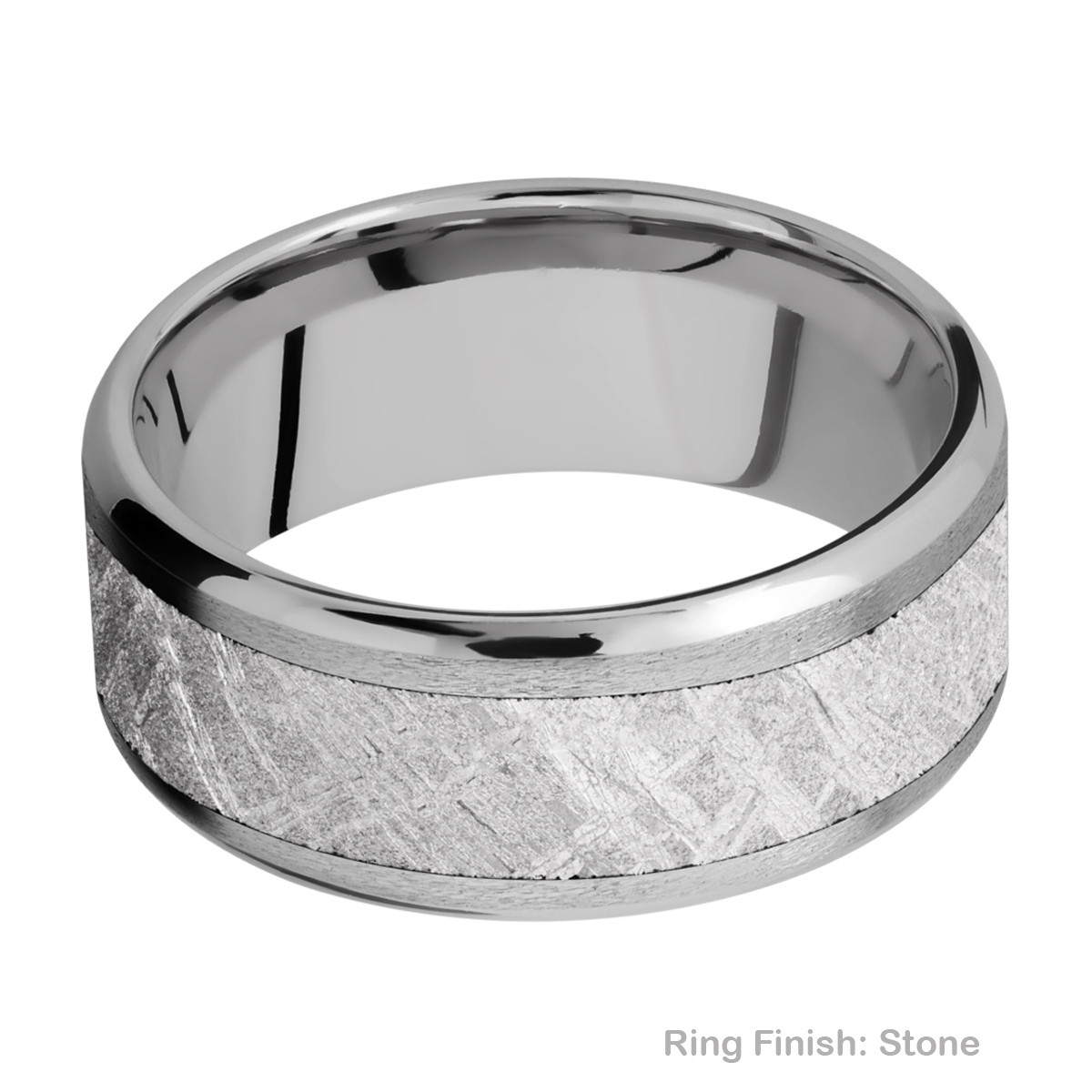 Lashbrook 9B16(NS)/METEORITE Titanium Wedding Ring or Band Alternative View 5