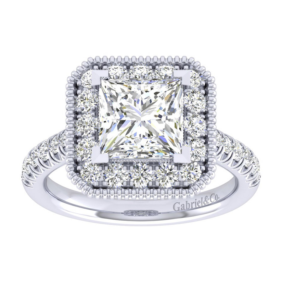 Gabriel 14 Karat Perfect Match Engagement Ring ER039C8ALW44JJ Alternative View 4