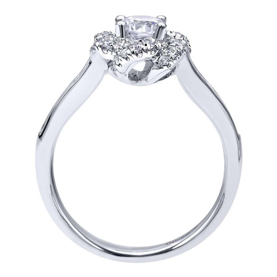 Gabriel 14 Karat Contemporary Engagement Ring ER910138W44JJ Alternative View 1