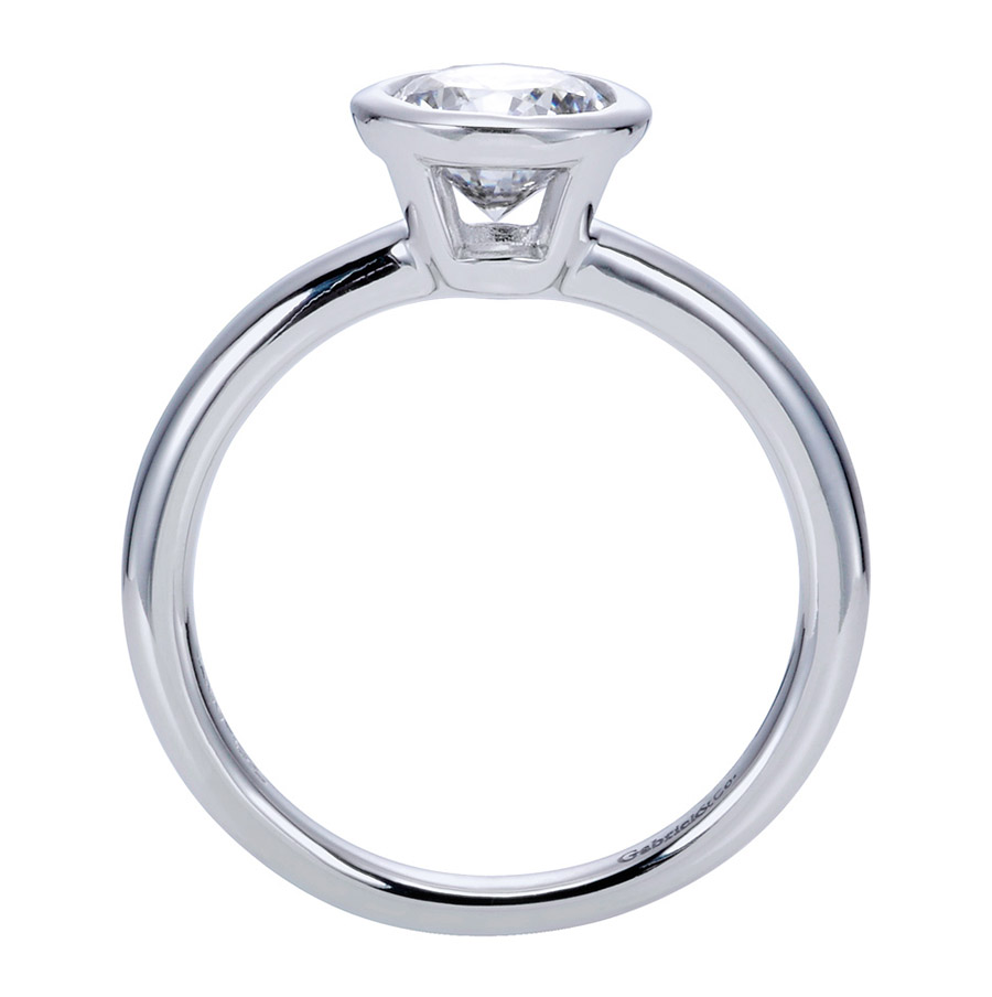 Gabriel Platinum Contemporary Engagement Ring ER8077PTJJJ Alternative View 1