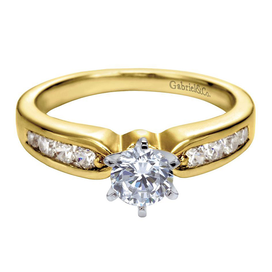 Gabriel 14 Karat Contemporary Engagement Ring ER2294M44JJ