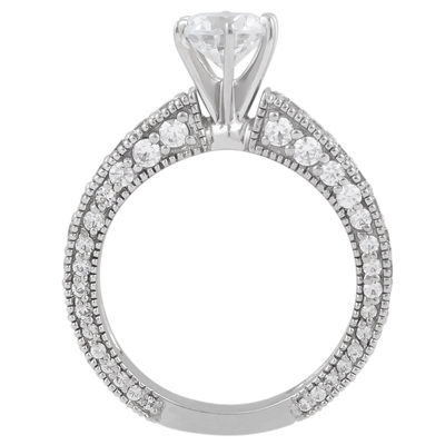 Taryn Collection Platinum Diamond Engagement Ring TQD A-5521 Alternative View 1