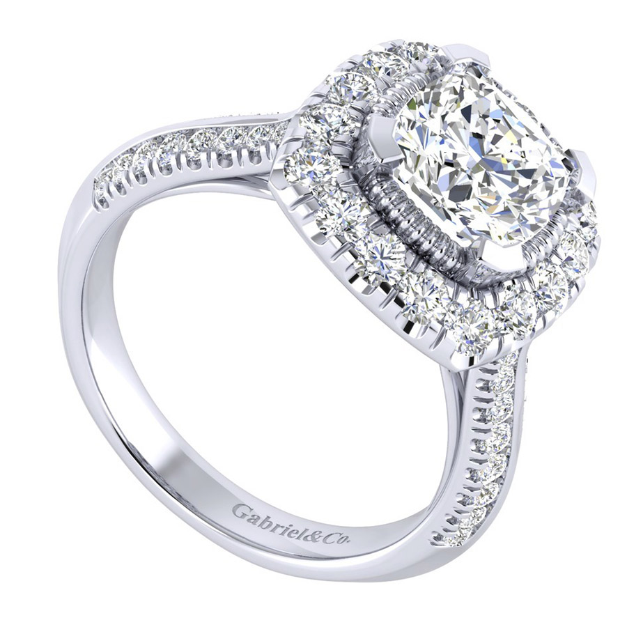Gabriel 14 Karat Perfect Match Engagement Ring ER002C8AJW44JJ Alternative View 2