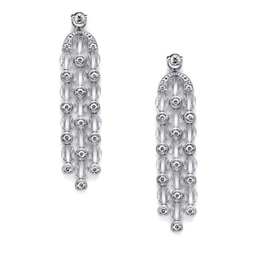 Tacori Diamond Earrings Platinum Fine Jewelry FE1017