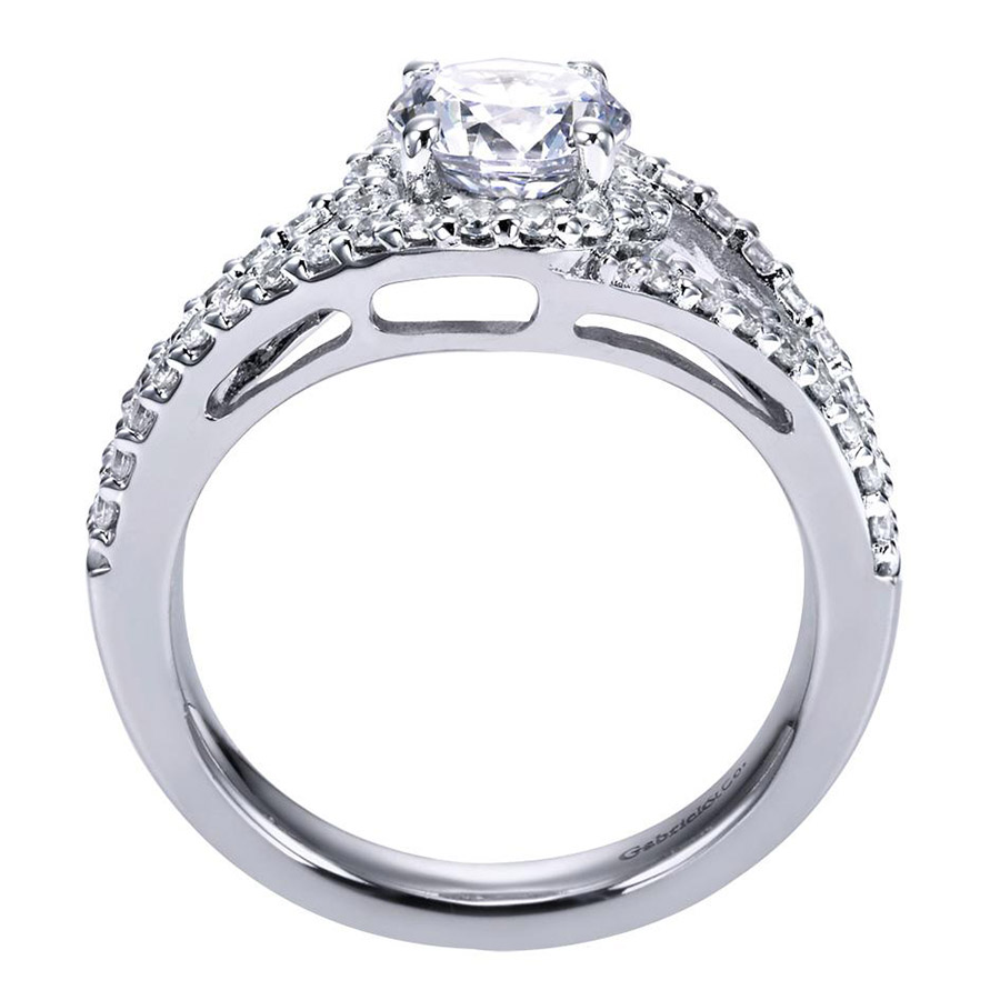 Gabriel 14 Karat Contemporary Engagement Ring ER5999W44JJ Alternative View 1