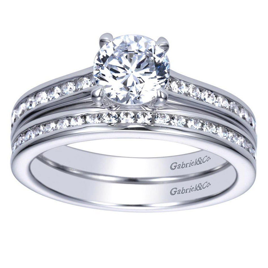 Gabriel 14 Karat Contemporary Engagement Ring ER98718W44JJ Alternative View 3
