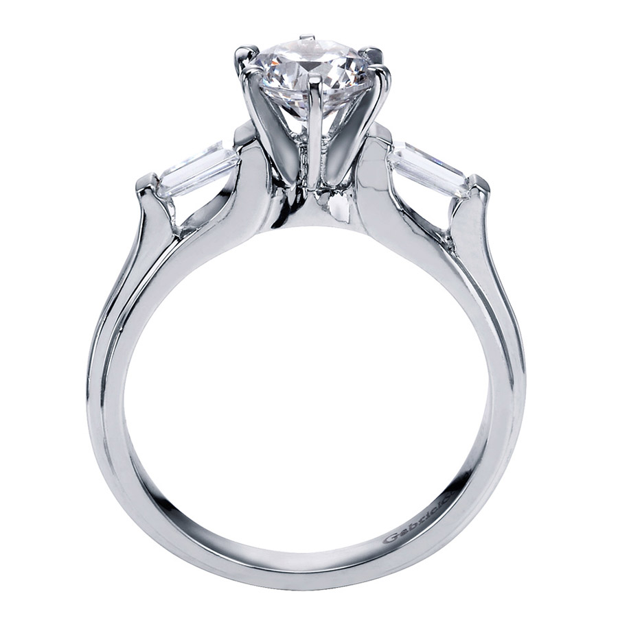 Gabriel 14 Karat Contemporary Engagement Ring ER3694PT3JJ Alternative View 1