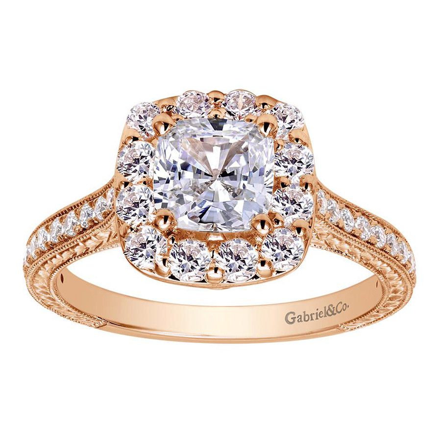 Gabriel 14 Karat Victorian Engagement Ring ER7500K44JJ Alternative View 4