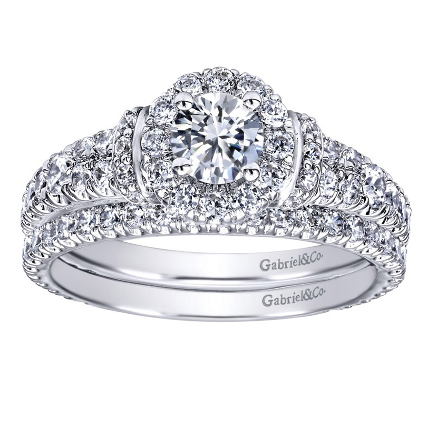 Gabriel 14 Karat Contemporary Engagement Ring ER910219W44JJ Alternative View 3