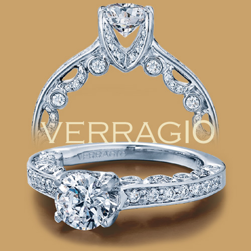 Verragio 18 Karat Paradiso Engagement Ring Paradiso-3003 R Alternative View 1
