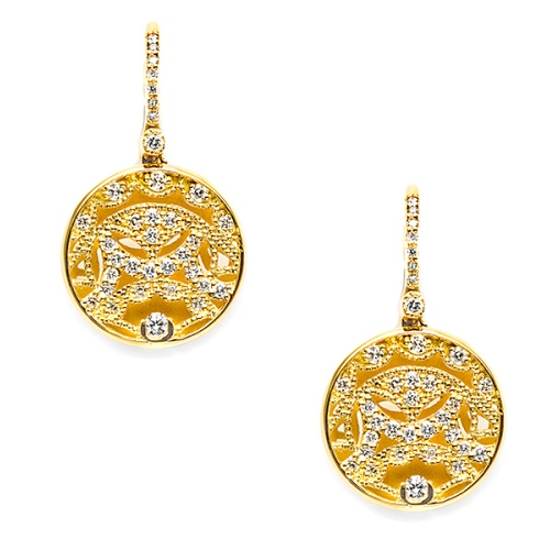Tacori Diamond Earrings 18 Karat Fine Jewelry FE661Y