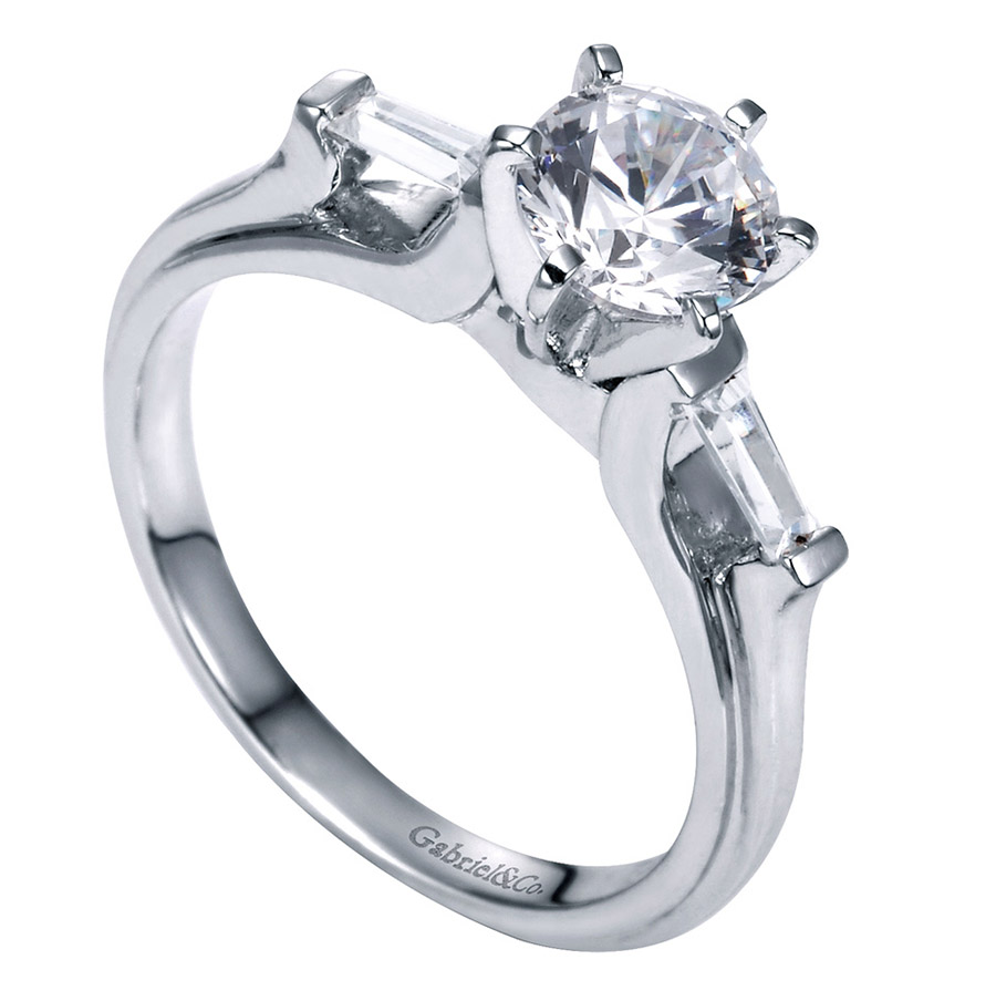 Gabriel 14 Karat Contemporary Engagement Ring ER3694PT3JJ Alternative View 2