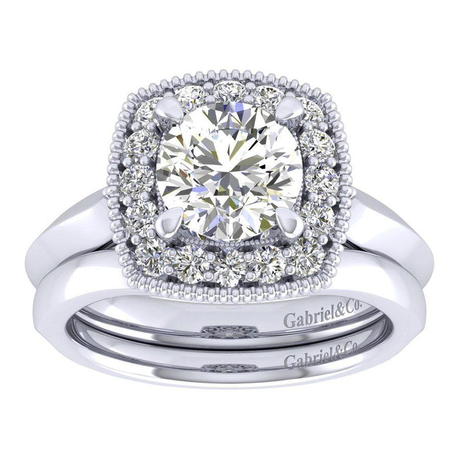 Gabriel 14 Karat Perfect Match Engagement Ring ER001C6ABW44JJ Alternative View 3