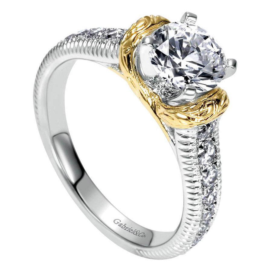 Gabriel 14 Karat Contemporary Engagement Ring ER9238M44JJ Alternative View 2