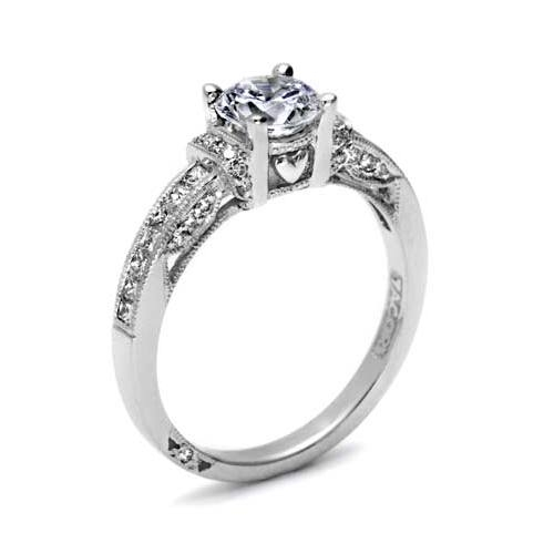 Tacori Platinum Simply Tacori Engagement Ring 2609RD6 Alternative View 1