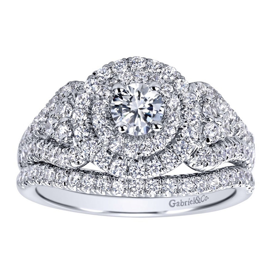 Gabriel 14 Karat Contemporary Engagement Ring ER910145W44JJ Alternative View 3