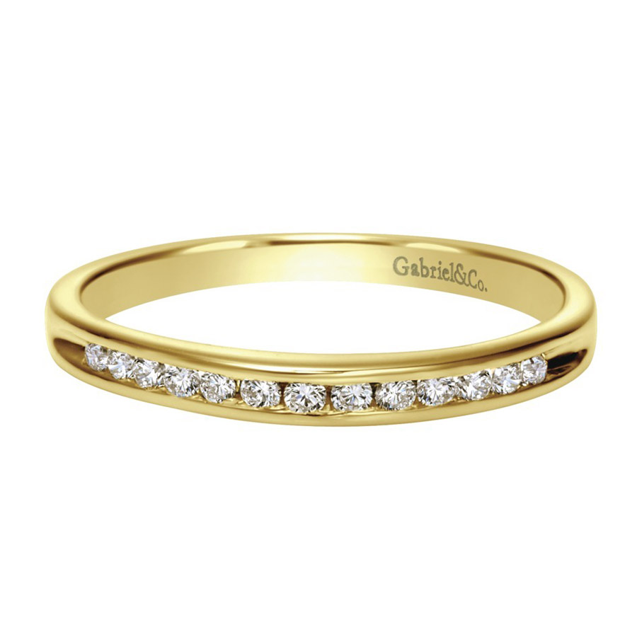 Gabriel 14 Karat Contemporary Wedding Band WB2150Y44JJ