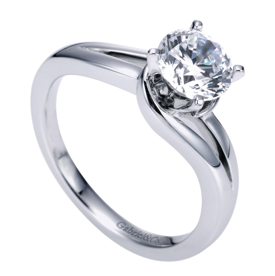 Gabriel Platinum Contemporary Engagement Ring ER6680PTJJJ Alternative View 2