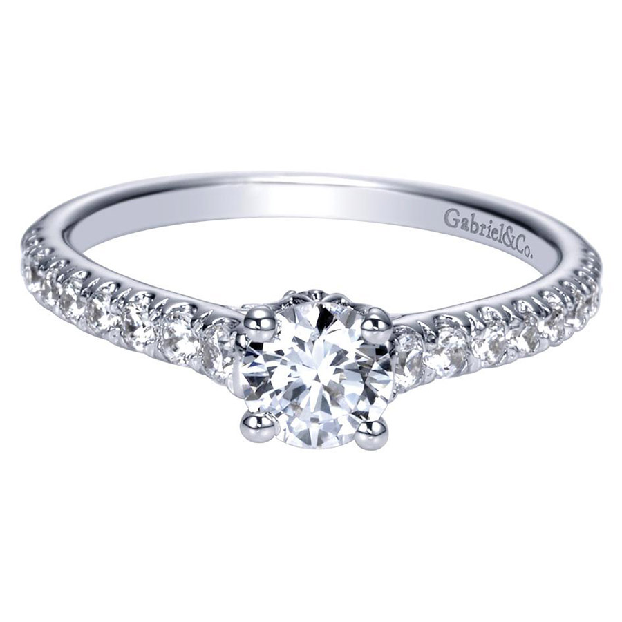 Gabriel 14 Karat Contemporary Engagement Ring ER98590W44JJ