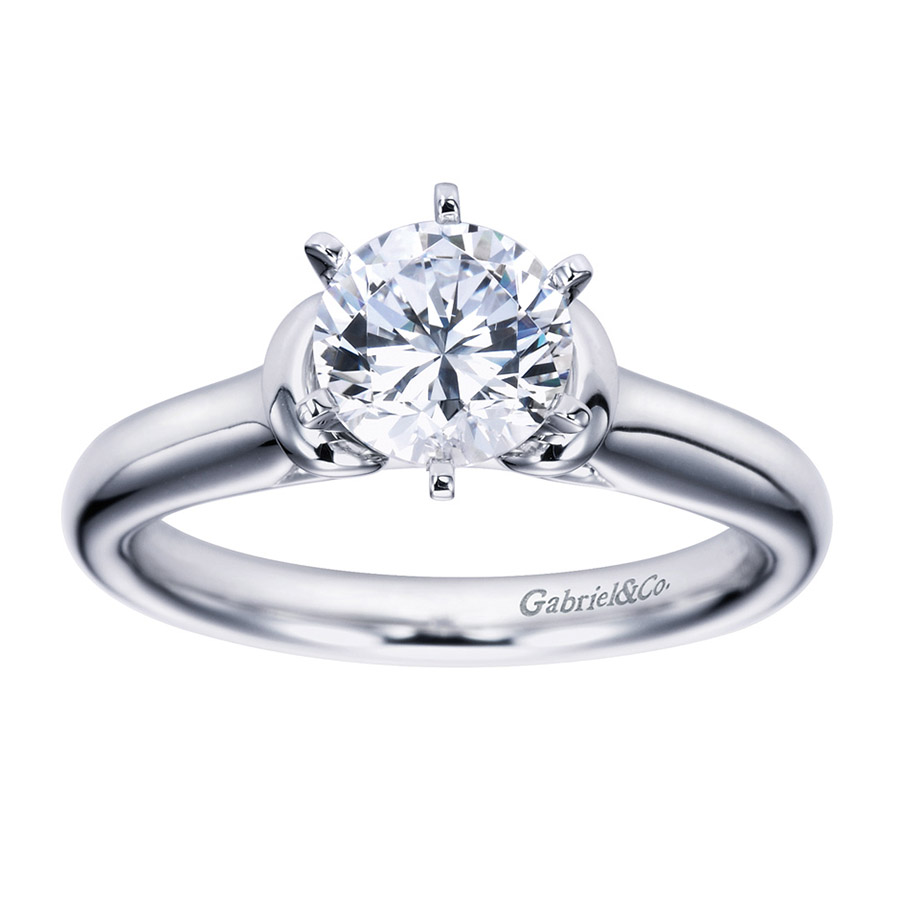 Gabriel Platinum Contemporary Engagement Ring ER6573PTJJJ Alternative View 4