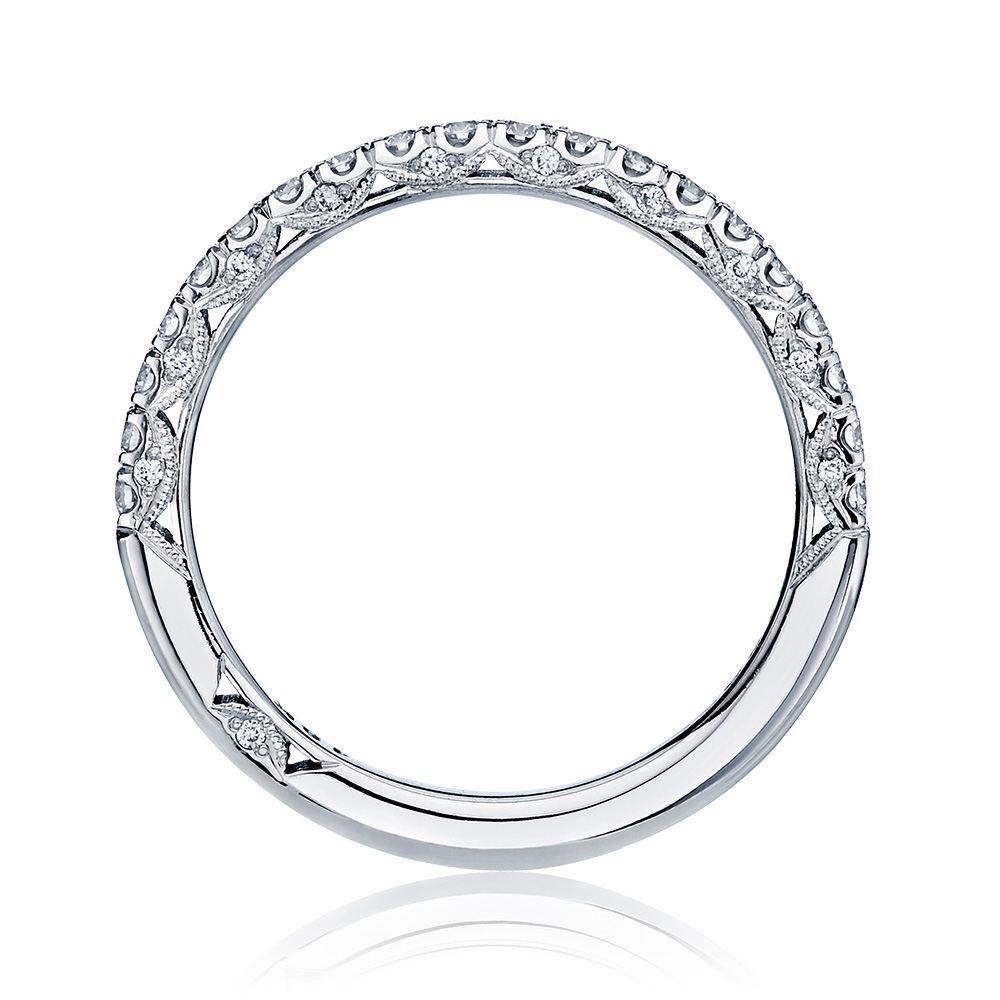 HT2545B12 Platinum Tacori Classic Crescent Diamond Wedding Ring Alternative View 1