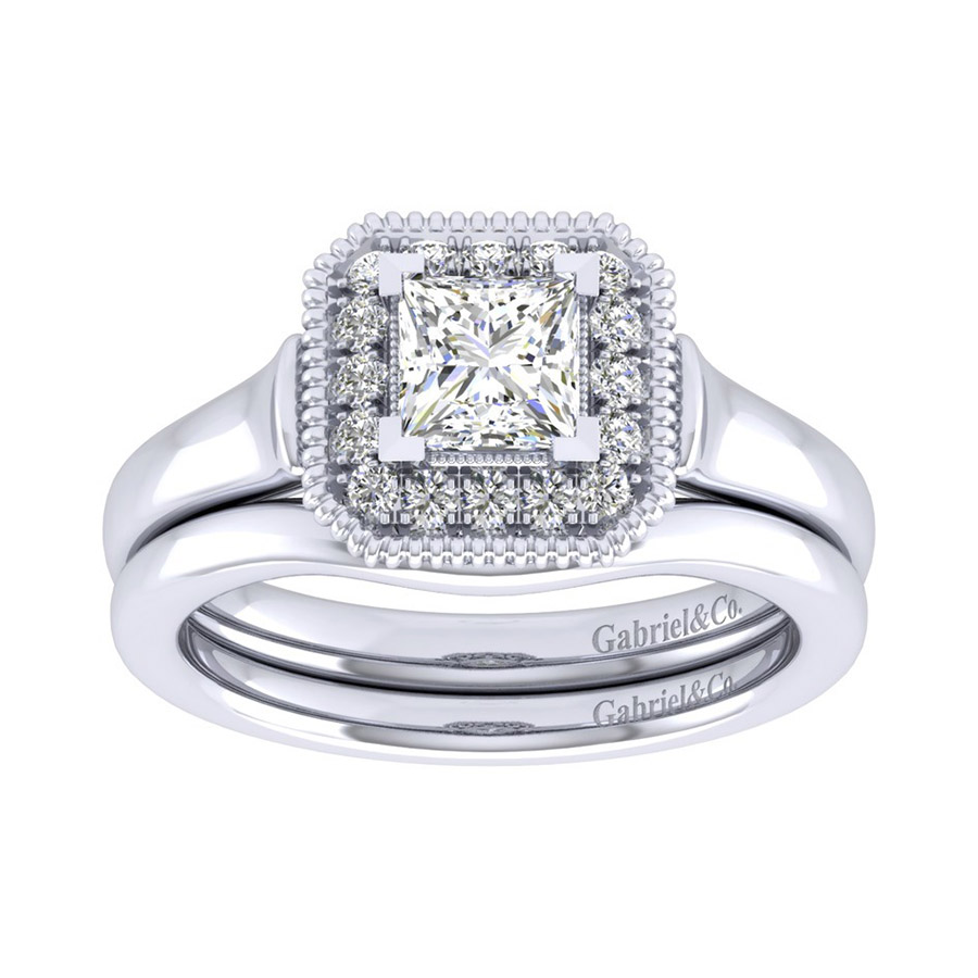 Gabriel 14 Karat Perfect Match Engagement Ring ER009B3ALW44JJ Alternative View 3