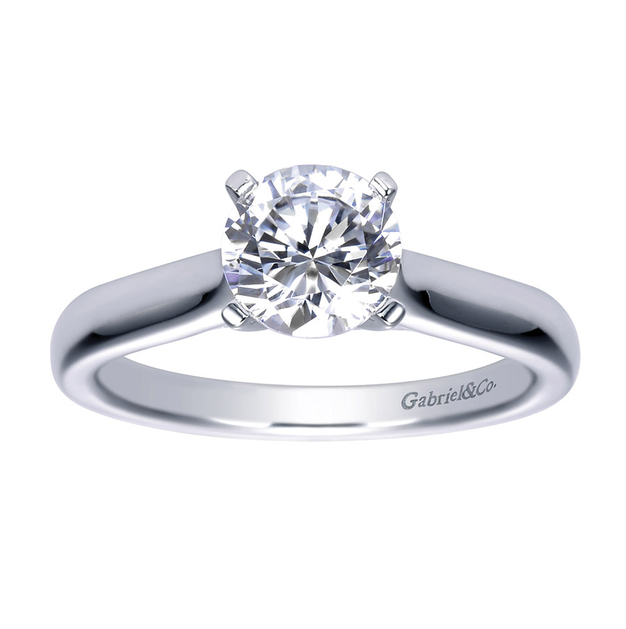 Gabriel Platinum Contemporary Engagement Ring ER8076PTJJJ Alternative View 4