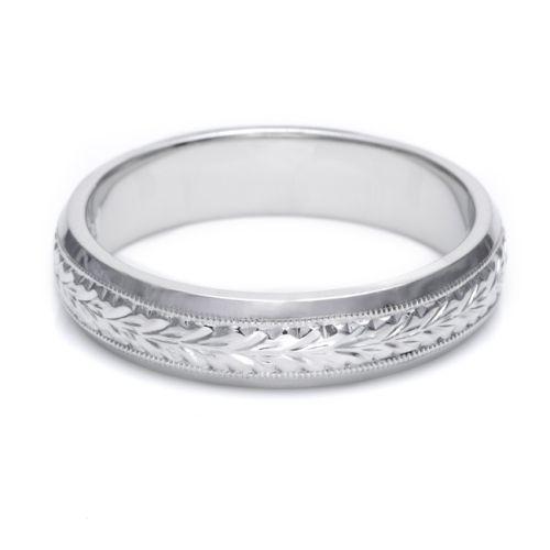 Platinum Wedding Bands For Men.Tacori Gu92 Platinum Hand Engraved Wedding Band