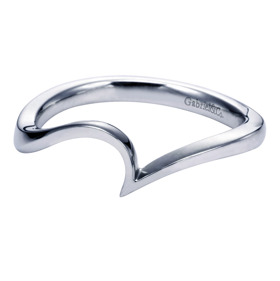 Gabriel Platinum Contemporary Wedding Band WB6682PTJJJ
