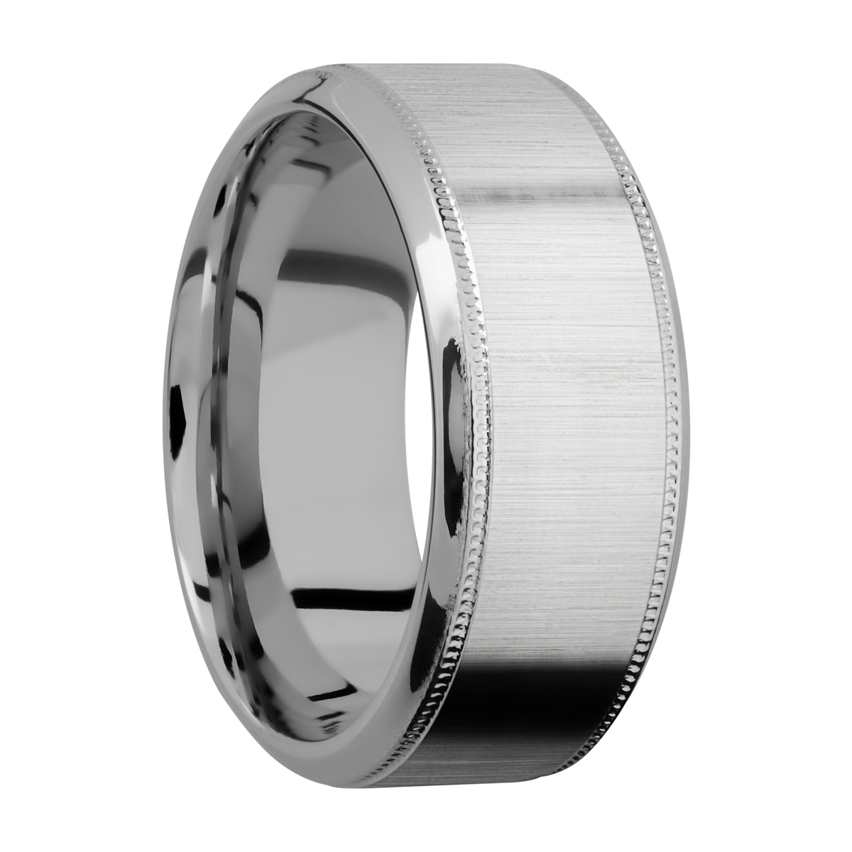 Lashbrook 9HB2UMIL Titanium Wedding Ring or Band Alternative View 1