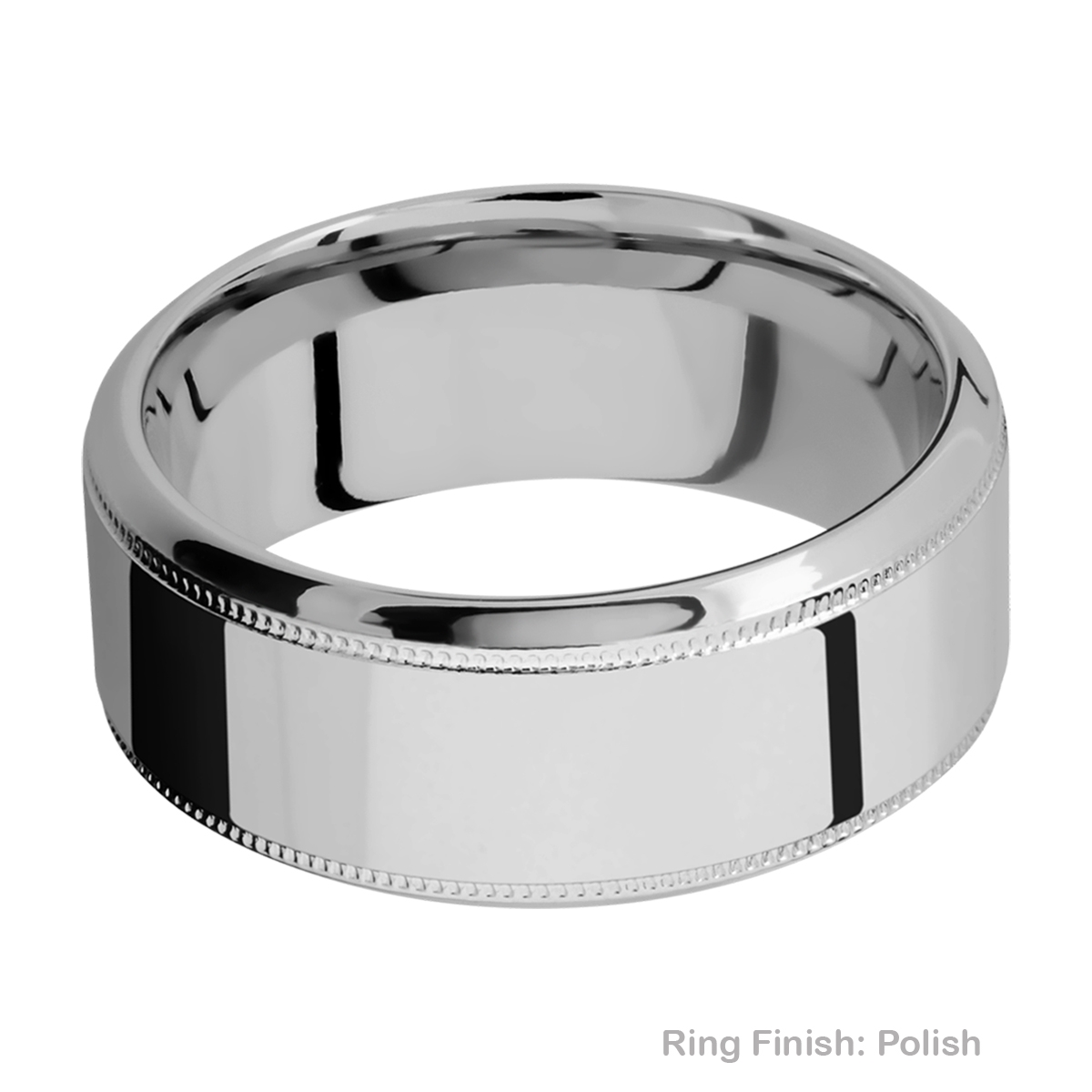 Lashbrook 9HB2UMIL Titanium Wedding Ring or Band Alternative View 4