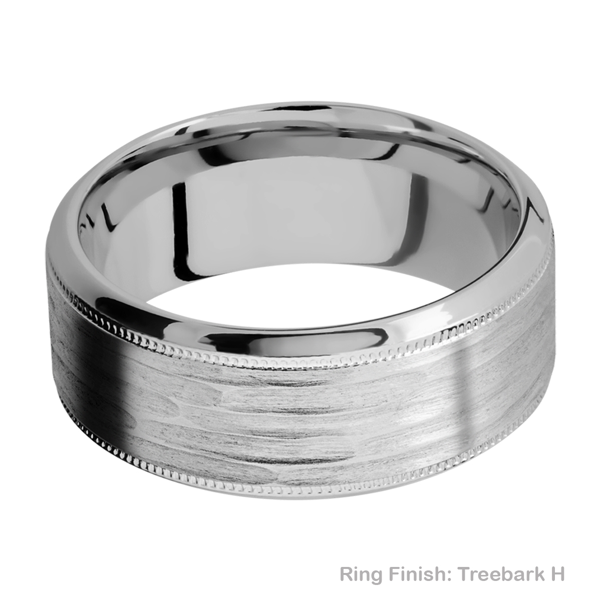 Lashbrook 9HB2UMIL Titanium Wedding Ring or Band Alternative View 11