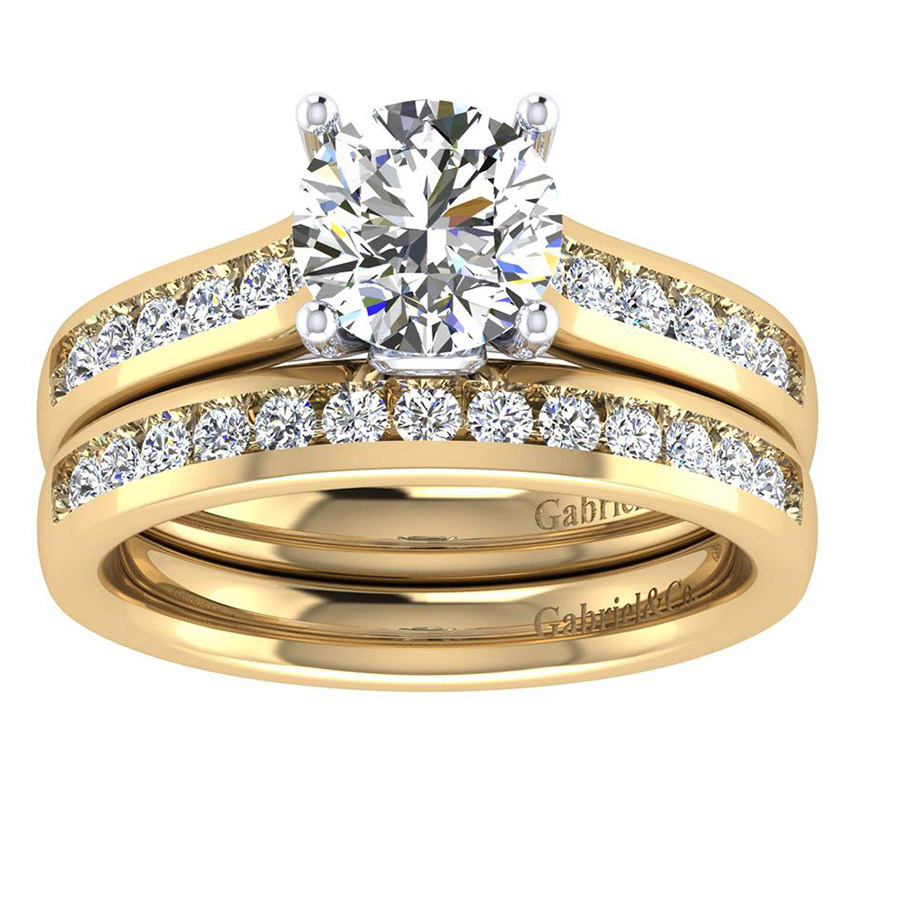 Gabriel 14 Karat Contemporary Engagement Ring ER8191M44JJ Alternative View 3