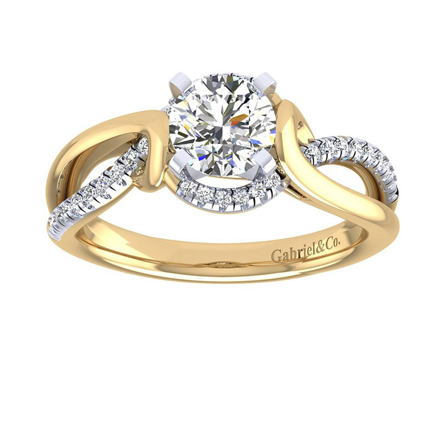 Gabriel 14 Karat Contemporary Engagement Ring ER7801M44JJ Alternative View 4