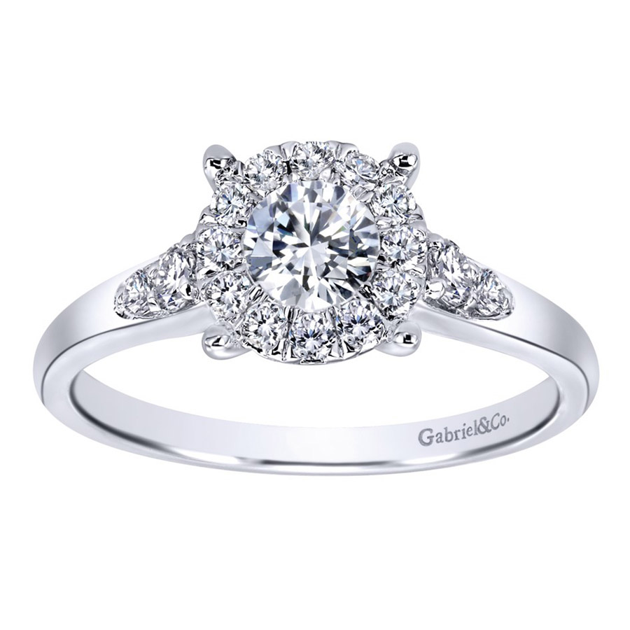 Gabriel 14 Karat Contemporary Engagement Ring ER910940W44JJ Alternative View 4