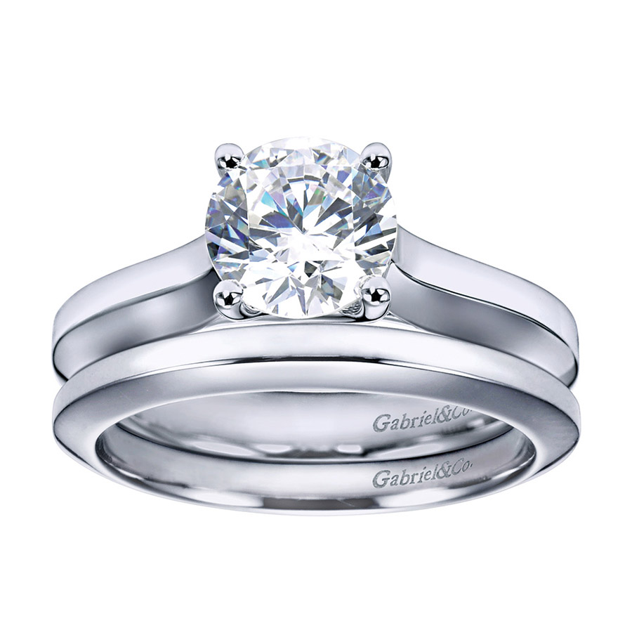 Gabriel Platinum Contemporary Engagement Ring ER6612PTJJJ Alternative View 3