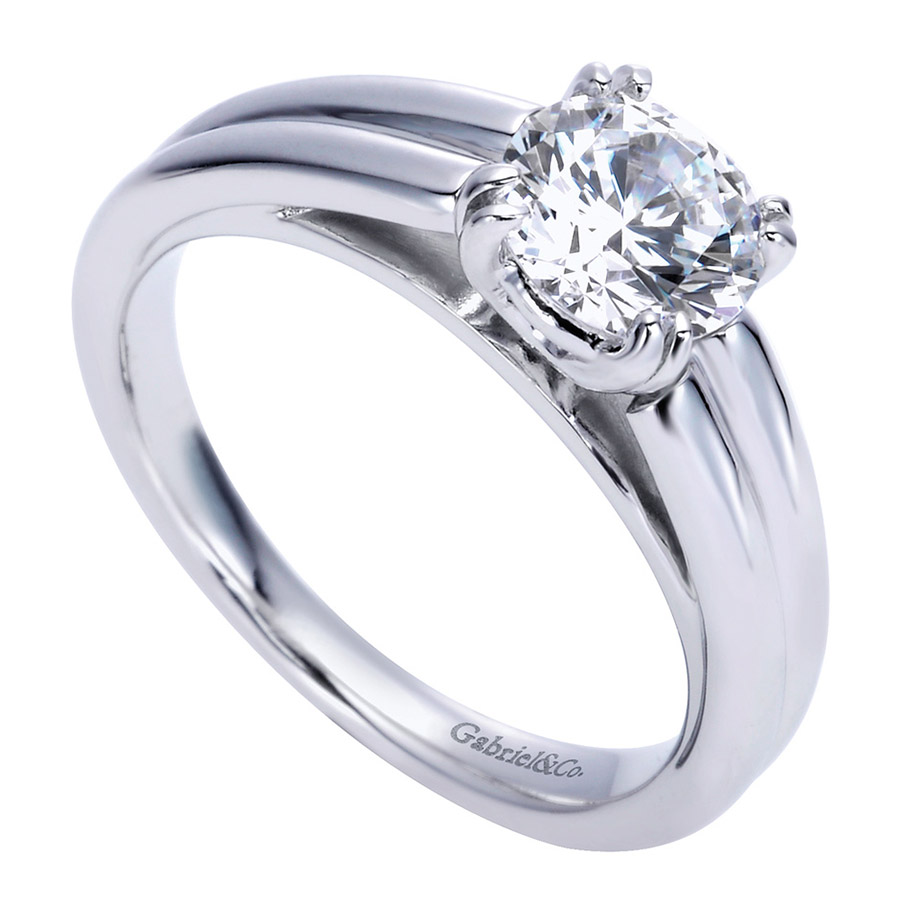 Gabriel Platinum Contemporary Engagement Ring ER8136PTJJJ Alternative View 2