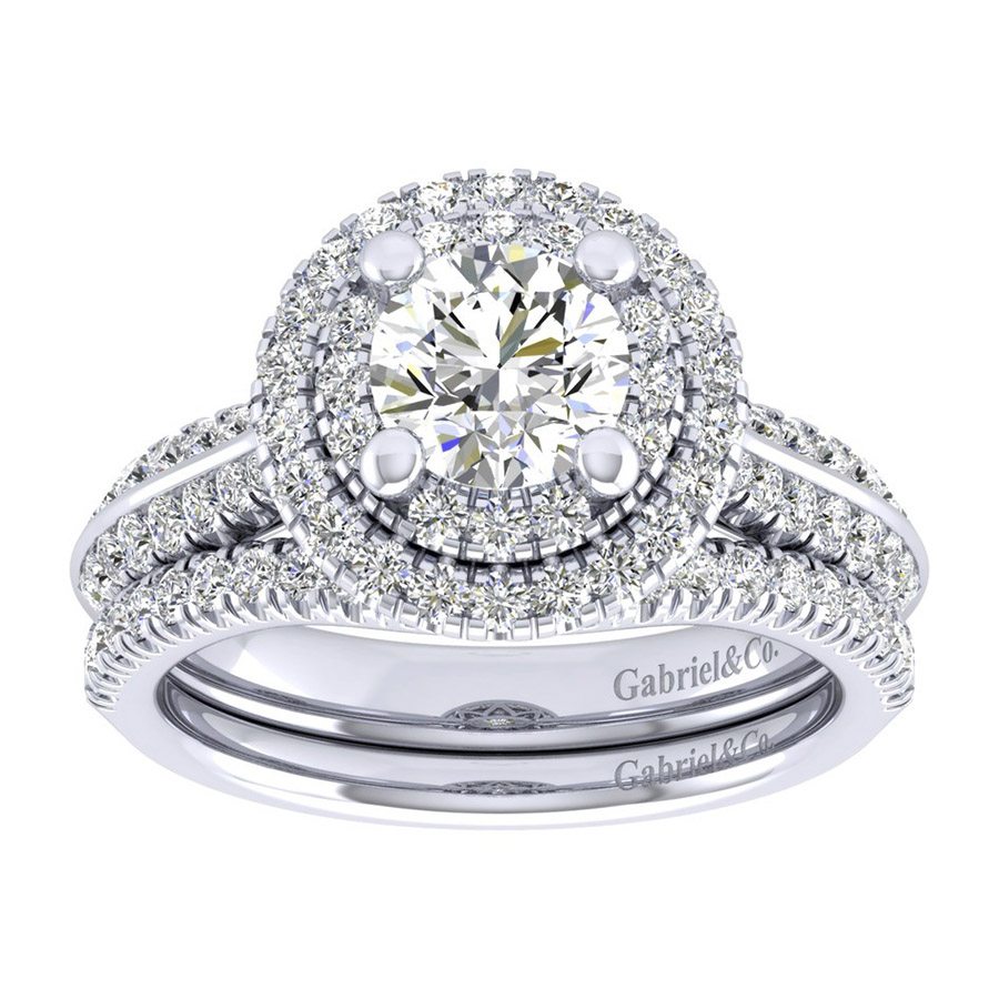 Gabriel 14 Karat Perfect Match Engagement Ring ER002B4AIW44JJ Alternative View 3
