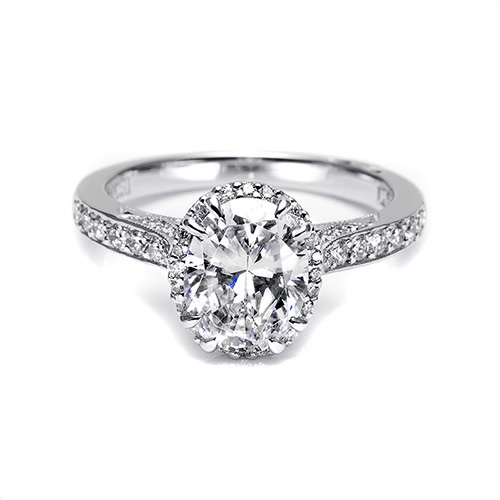 Tacori Platinum Dantela Engagement Ring 2620OVLGP