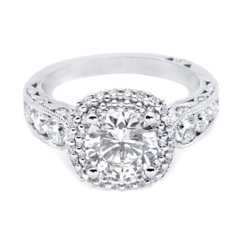 HT2521CU75 Tacori Crescent Platinum Engagement Ring Alternative View 2
