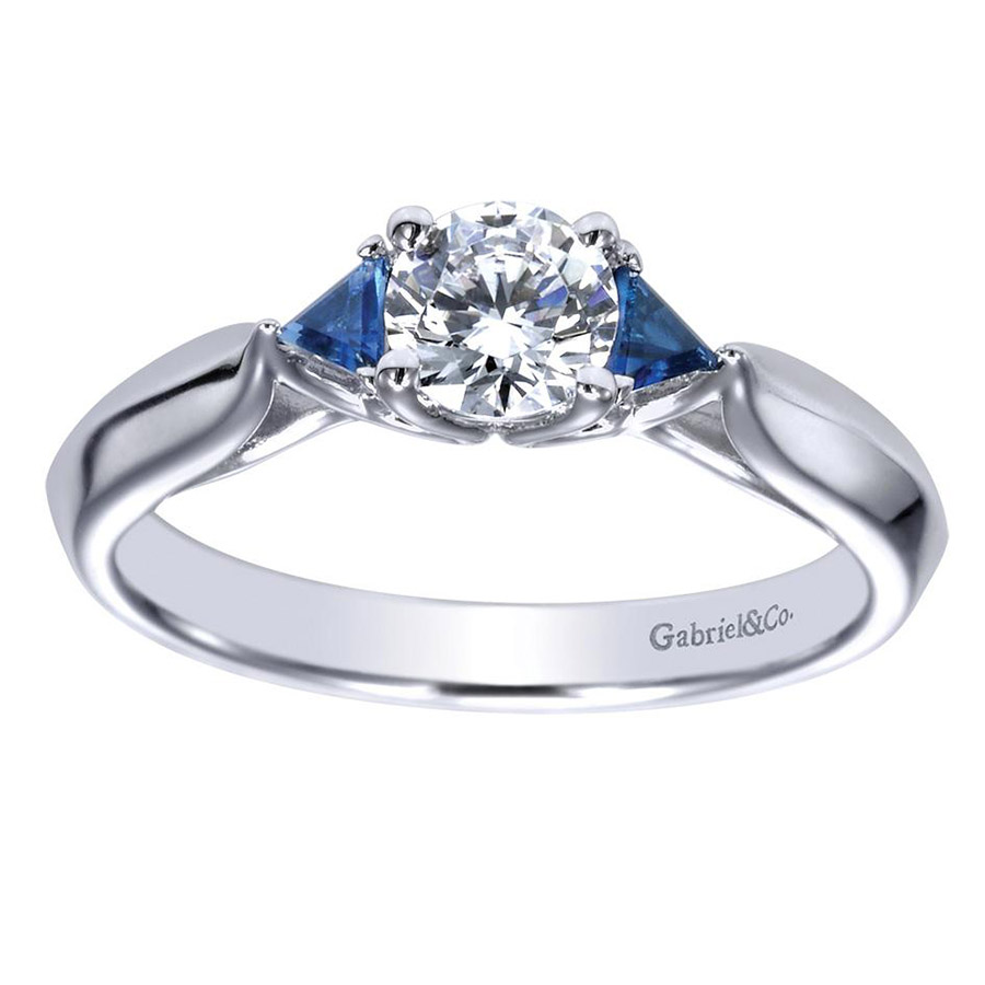 Gabriel 14 Karat Contemporary Engagement Ring ER98685W44SA Alternative View 4