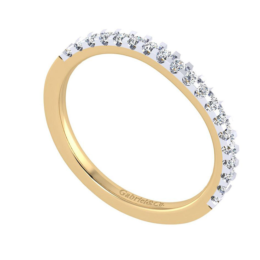 Gabriel 14 Karat Contemporary Wedding Band WB7482M44JJ Alternative View 2
