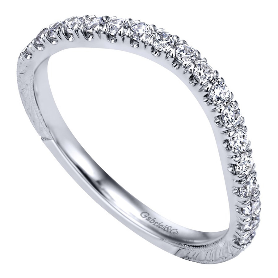 Gabriel 14 Karat Contemporary Wedding Band WB10086W44JJ Alternative View 2